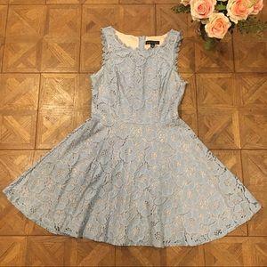 Blue Lace Sleeveless Dress